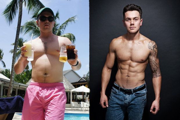 Ray Went From A Bloated 14st To A Lean And Ripped 12st In